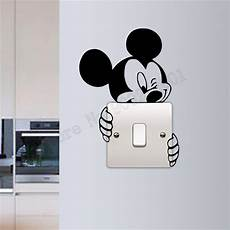 light switch sticker mickey mouse wall decoration beauty kidsroom poster mural modern lifestyle