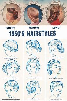 50s hairstyle names 1950s hairstyles chart for your hair length daze