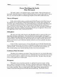 movement of the earth s crust worksheets 14432 forces that shape the earth plate movement worksheet for 6th 9th grade lesson planet