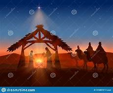 christian christmas with wise men and jesus stock vector