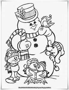 Ausmalbilder Winter Schneemann Snowman Family Coloring Pages At Getcolorings Free