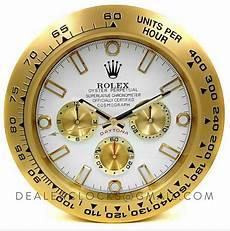 rolex wanduhr 38 cm daytona schwarz gelbgold