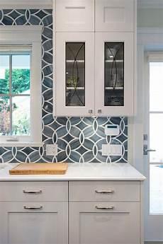 Blue Glass Tile Kitchen Backsplash Blue Kitchen Tile Backsplash With Glass Eclipse Cabinets