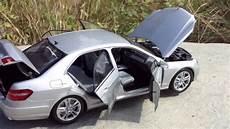 minichs 1 18 mercedes e class sedan silver