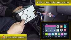din 2 android autoradio ohne rahmen einbauen doppel din