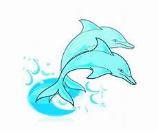 paar der blauen delphine kostenlose vektor