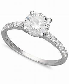 arabella swarovski zirconia wedding ring 2 3 4 ct t w in white lyst