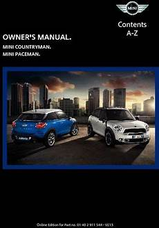service repair manual free download 2011 mini countryman windshield wipe control 2014 mini countryman owner s manual mini connected pdf 282 pages