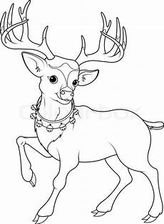 coloring page of reindeer stock vector