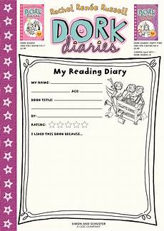 page formats for dorks dork diaries my reading diary dork diaries dork reading journal