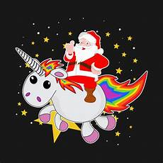 merry christmas santa unicorn christmas unicorn t shirt teepublic de