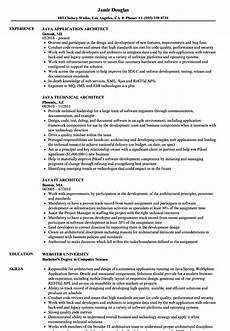 resume of java architect architect java resume sles velvet