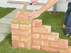 How To Build A Brick Garden Wall Brick Garden Diy