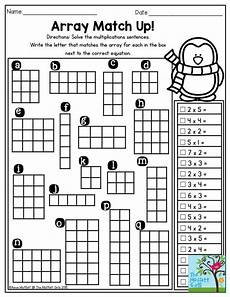 writing addition and multiplication sentences worksheets 22118 array match up solve the multiplication sentences and write the letter that matches the array