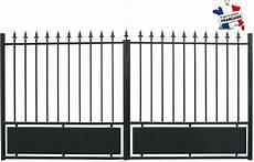 portail fer 3m portail droit largeur 3m cloture jardin