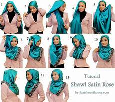 Aneka Tutorial Cara Memakai Jilbab Modern Bahan Satin