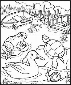 free coloring pages pond animals 17411 personalized at the pond coloring page frecklebox