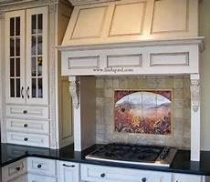 Kitchen Tile Murals Tile Backsplashes Made Sunflower Kitchen Backsplashes Tile Murals By