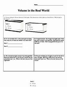 volume word problems worksheets with answers 11170 real world volume problems by autumn hicks teachers pay teachers