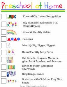 preschool at home free printable checklist meandmymomfriends com