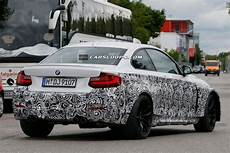 bmw m2 coupe protoype spied in white with exhausts gtspirit