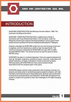6 civil construction company profile sle company letterhead