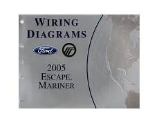 old car repair manuals 2005 ford escape lane departure warning 2005 ford escape mercury mariner wiring diagrams