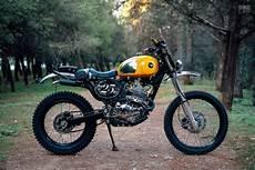 spicy mechanics mustard yellow honda xr 250 bike