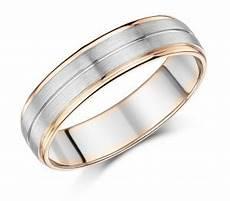 6mm men s palladium and 9ct rose gold wedding ring 9ct 2 colour gold at elma uk jewellery