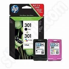 Twinpack Of Hp 301 Ink Cartridges N9j72ae Stinkyink