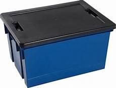 Bac De Rangement Plastique Bleu Couvercle 50 L Bricoman