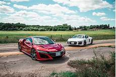2018 acura nsx vs 2018 audi r8 rws comparison review car