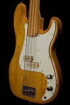 fender fretless precision bass 1975 fender precision bass fretless maple neck finish vintage guitars fender bass