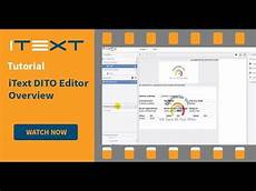 itextsharp exles itext dito editor overview youtube