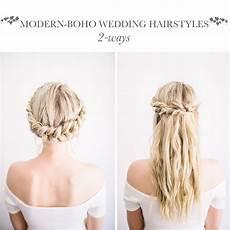 diy modern boho wedding hairstyles the blondielocks life style