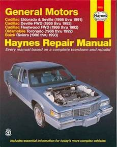 best auto repair manual 1993 cadillac fleetwood head up display 1986 1993 gm cadillac eldorado seville deville fwd fleetwood fwd oldsmobile toronado