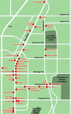 maps of dallas map of las vegas strip
