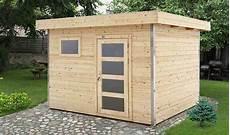 remise de jardin en bois brut 5m2 toit plat et porte vitre
