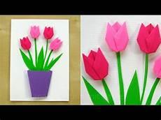 basteln mit papier blumen muttertagskarte als geschenk