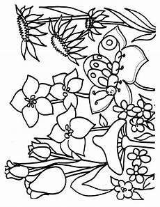Ausmalbilder Blumen Schmetterlinge Ausmalbilder Blumen Bild Pilze Und Schmetterlinge