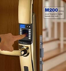 Xiaodi Smart Door Lock Slider Design by M200 Sliding Cover Fingerprint Digital Keyless Door Lock