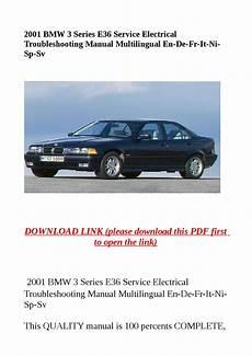 service and repair manuals 2001 bmw 3 series regenerative braking 2001 bmw 3 series e36 service electrical troubleshooting manual multilingual en de fr it ni sp