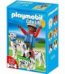 Playmobil Ausmalbilder Hunde Playmobil City Hunde 5212 Omino Mit Dalmatinischen Familie