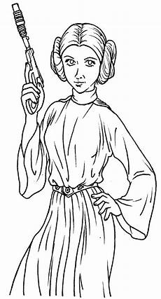 luke and leia coloring pages coloring home