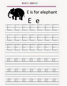 kindergarten worksheets printable tracing worksheet alphabet e e