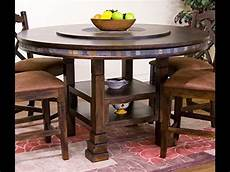 Kitchen Table With Lazy Susan by Designs Santa Fe Table With Lazy Susan 60 Inch
