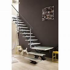 Escalier Quart Tournant Mona Marches Structure Aluminium