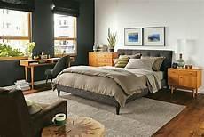 Schwarz Bett Stuhl Schreibtisch Schlafzimmer