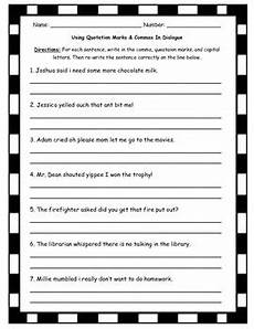 dialogue writing worksheets for grade 5 22945 quotation marks in dialogue worksheet practice by tltussing tpt