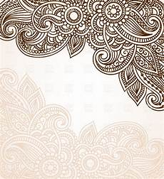 mehndi style background with floral ornament vector image of backgrounds textures abstract